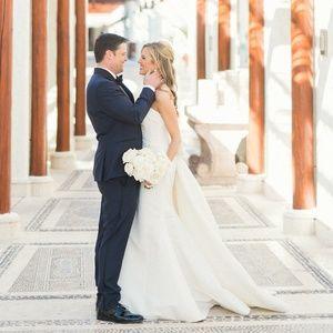 Carolina Hererra Wedding Dress with Stunning Train